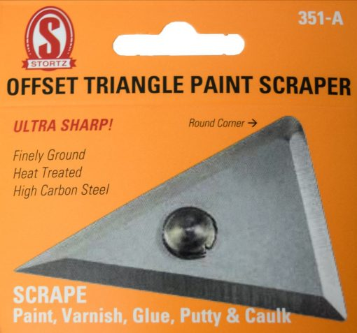 351-a Offset triangle paint scraper